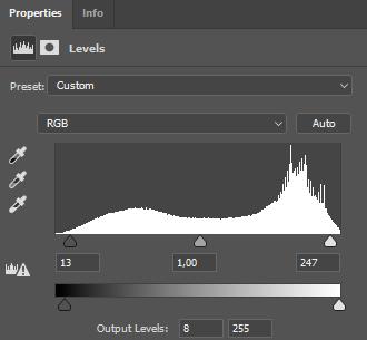 Levels dialog Photoshop CC Windows