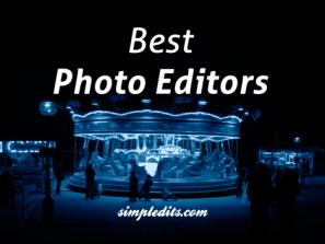 best photo editors Blue monochrome image of London winter fare