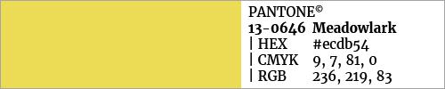 Swatch color Pantone 13-0646 Meadowlark