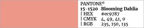 Swatch color Pantone 15-1520 Blooming Dahlia