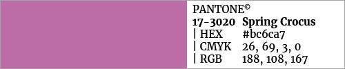 Swatch color Pantone 17-3020 Spring Crocus