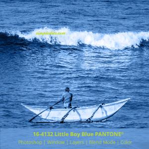 PANTONE color 16-4132 Little Boy Blue applied to image fisherman from Mirissa Sri Lanka