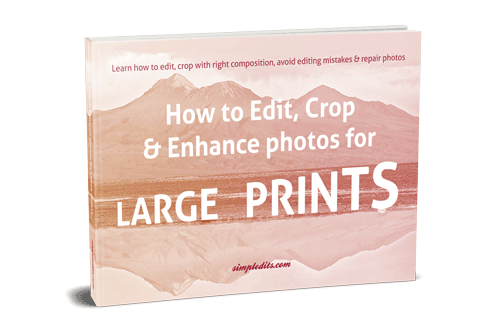 E-book How to edit, crop and enhance photos for large print
