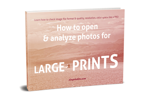 E-book How to open and analyze photos for large print