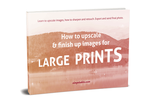 E-book How to upscale and finish up photos for large print