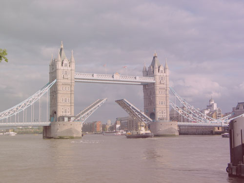 photo of London Bridge with retro vintage look photography style