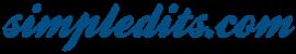 simpledits.com logo blue