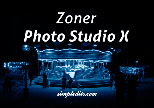 Zoner Photo Studio X Blue monochrome image of London Westminster