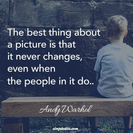Photography quote by Andy Warhol