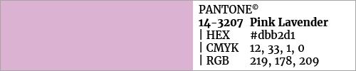 Swatch color Pantone 14-3207 Pink Lavender