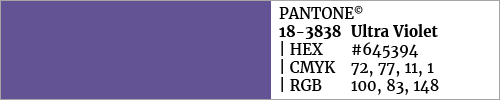 Swatch color Pantone 18-3838 Ultra Violet