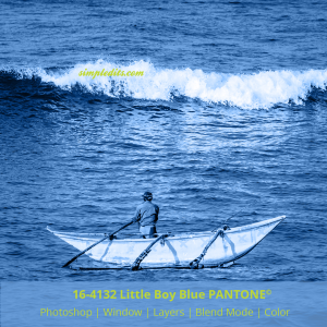 PANTONE color 16-4132 Little Boy Blue applied to image fisherman from Mirissa Sri Lanka