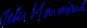 Peter Marwins signature