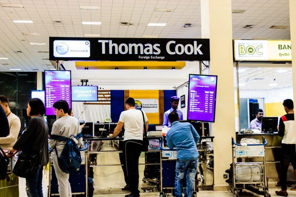 Colombo airport Sri Lanka money exchange