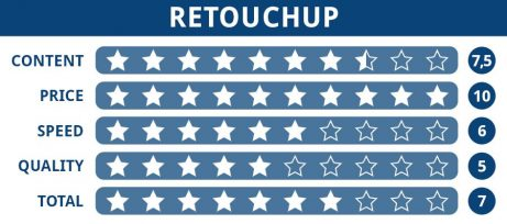 Rating table of RetouchUp editing service