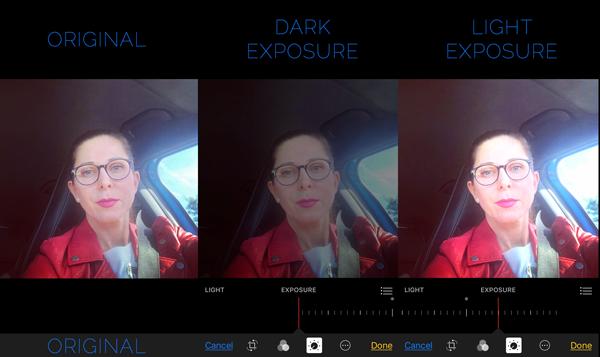iPhone editing Photos Exposure