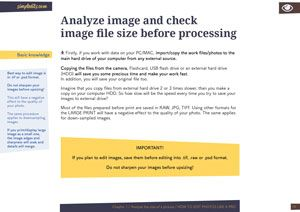 Photo and image size check for photographers chapter