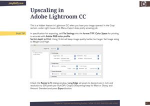 Upscaling in Adobe Lightroom CC