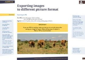 Exporting images ebook chapter