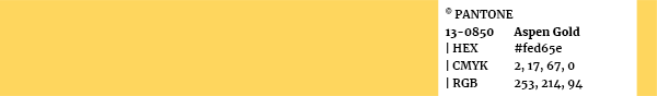 Color palette Pantone swatch 13-0850 Aspen Gold