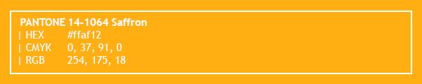 color swatch 2020 PANTONE 14-1064 Saffron