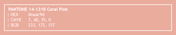 color swatch 2020 PANTONE 14-1318 Coral Pink