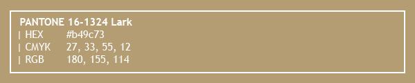 color swatch 2020 PANTONE 16-1324 Lark