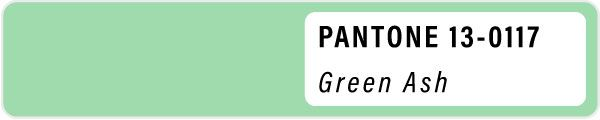 2021 color palette PANTONE 13-0117-Green Ash pastels color Spring swatches