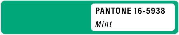 2021 color palette PANTONE 16-5938 Mint pastels color Spring swatches fashion trend