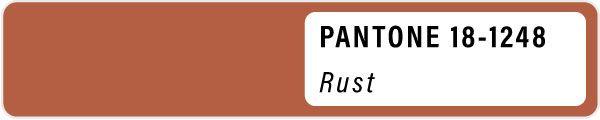 2021 color palette PANTONE 18-1248 Rust pastels color Spring swatches